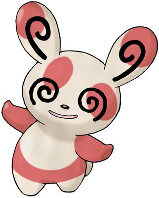 Spinda artwork by Ken Sugimori