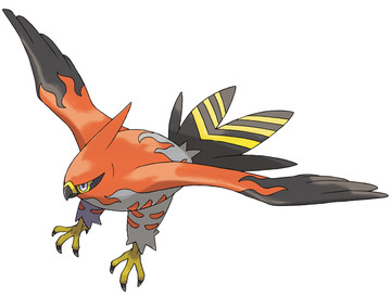 Talonflame artwork by Ken Sugimori