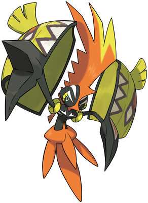 Tapu Koko artwork by Ken Sugimori