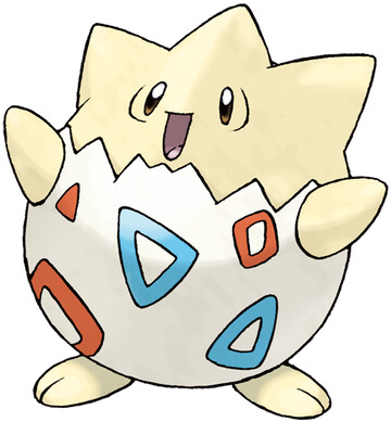 Togepi artwork by Ken Sugimori