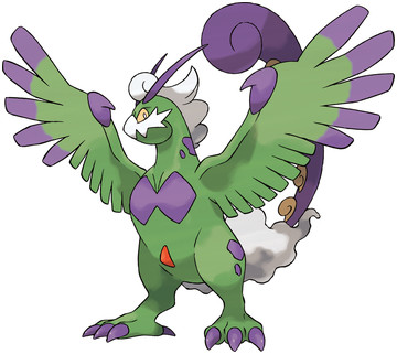 Tornadus (Therian Forme) artwork by Ken Sugimori