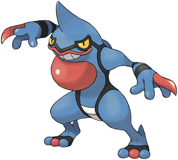 Toxicroak artwork by Ken Sugimori