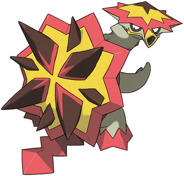 Turtonator artwork by Ken Sugimori