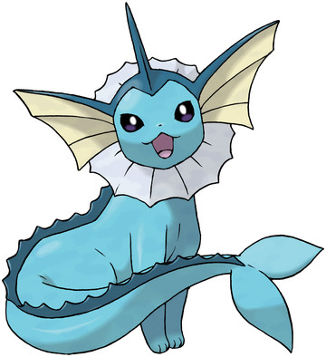 Vaporeon artwork by Ken Sugimori