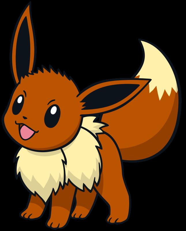 Eevee official artwork gallery   Pokémon Database