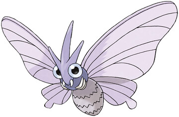 Venomoth artwork by Ken Sugimori