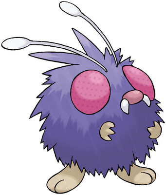 Venonat artwork by Ken Sugimori