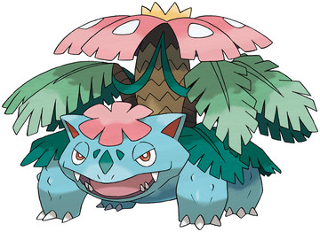 Mega Venusaur artwork by Ken Sugimori