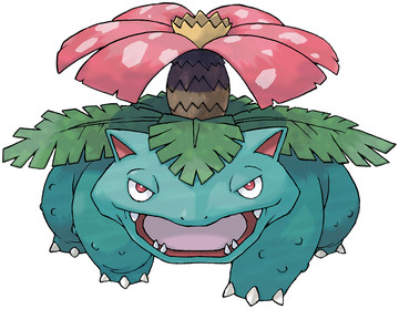 Venusaur artwork by Ken Sugimori