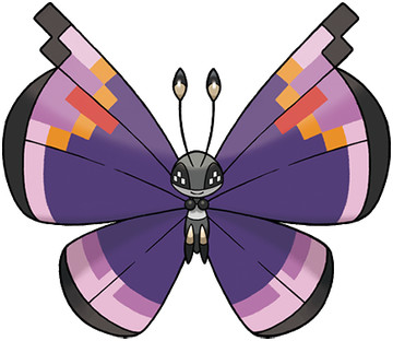 Vivillon Sugimori artwork