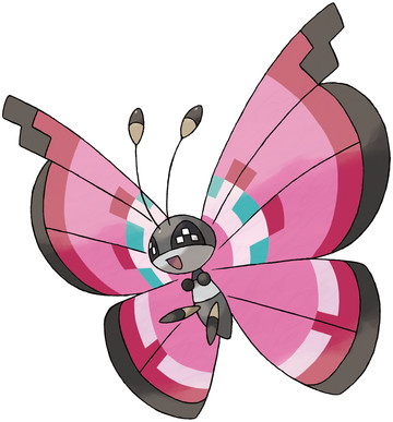 Vivillon artwork by Ken Sugimori