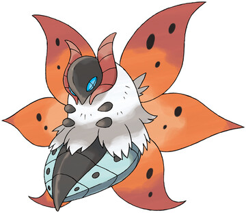 Volcarona artwork by Ken Sugimori