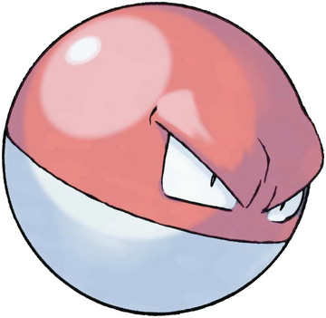 Voltorb artwork by Ken Sugimori