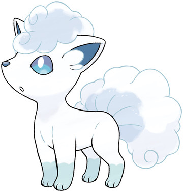 Alolan Vulpix artwork by Ken Sugimori