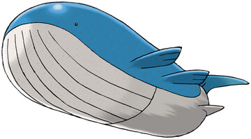 Wailord artwork by Ken Sugimori