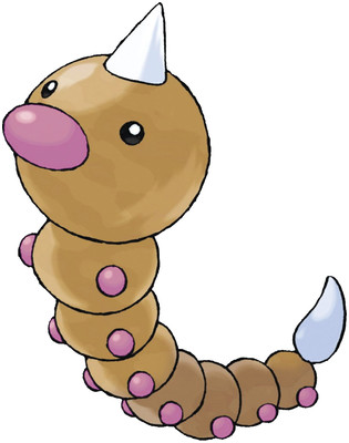 Weedle artwork by Ken Sugimori