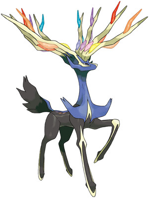 Xerneas artwork by Ken Sugimori
