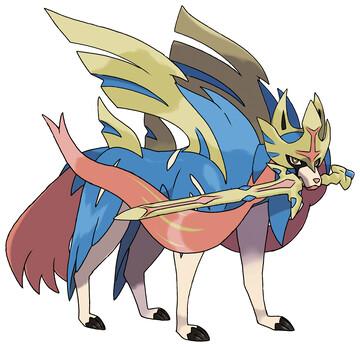 Zacian (Crowned Sword) artwork by Ken Sugimori