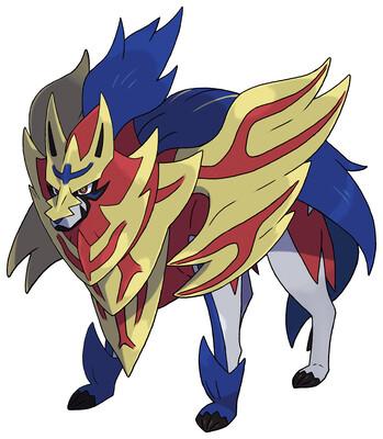 Zamazenta (Crowned Shield) Sugimori artwork