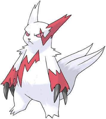 Zangoose artwork by Ken Sugimori