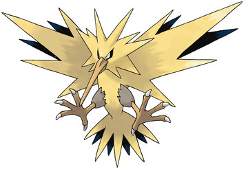 Zapdos artwork by Ken Sugimori