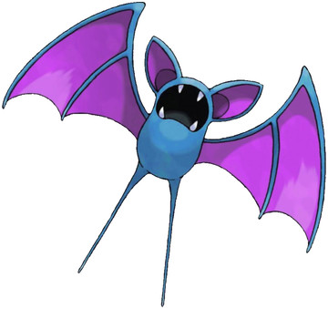 Zubat artwork by Ken Sugimori