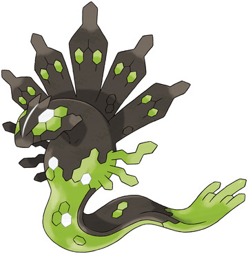 Zygarde (50% Forme) artwork by Ken Sugimori