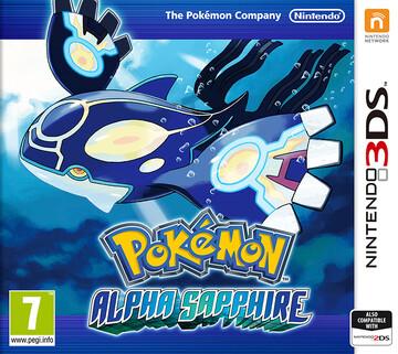 Pokemon Alpha Sapphire box art featuring Primal Kyogre