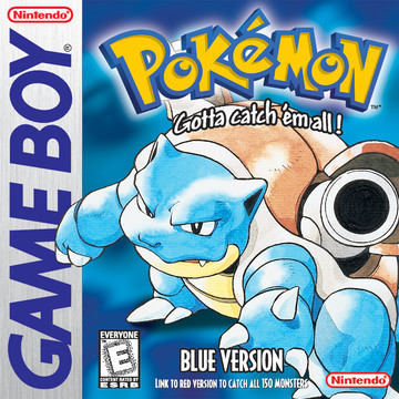 Pokemon Blue box art featuring Blastoise