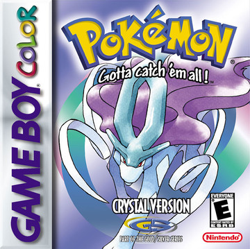 Pokemon Crystal box art featuring Suicune