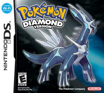 Pokemon Diamond box art featuring Dialga