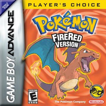Pokemon FireRed box art featuring Charizard