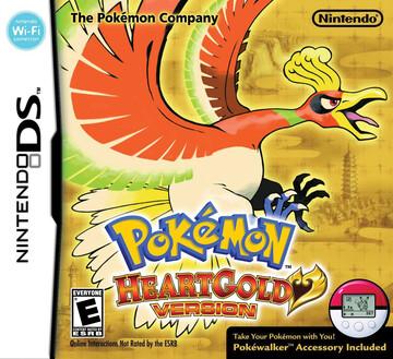 Pokemon HeartGold box art featuring Ho-oh