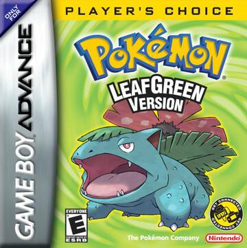 Pokemon LeafGreen box art featuring Venusaur