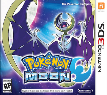 Pokemon Moon box art featuring Lunala