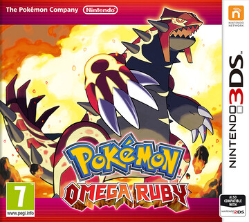 Pokemon Omega Ruby box art featuring Primal Groudon