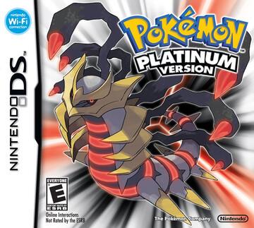 Pokemon Platinum box art featuring Giratina Origin Forme