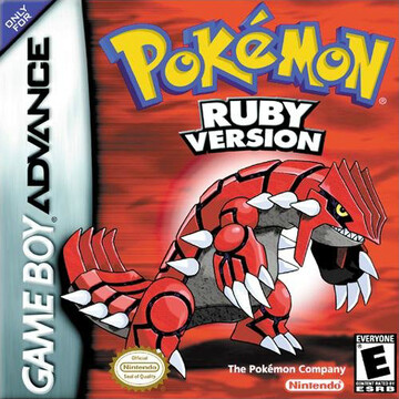 Pokemon Ruby box art featuring Groudon