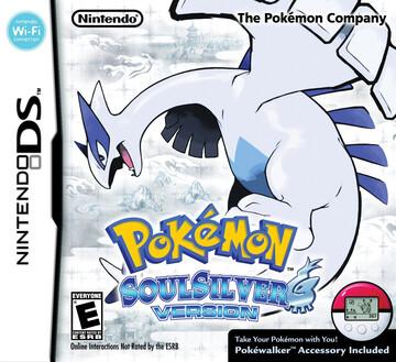 Pokemon SoulSilver box art featuring Lugia