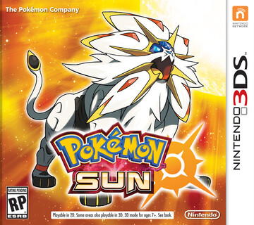 Pokemon Sun box art featuring Solgaleo