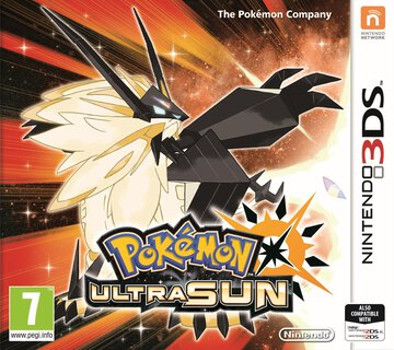 Pokemon Ultra Sun box art featuring Dusk Mane Necrozma