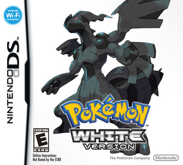 Pokemon White box art featuring Zekrom
