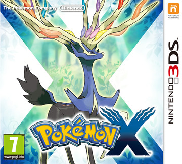 Pokemon X box art featuring Xerneas