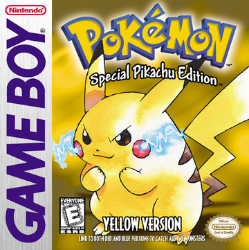 Pokemon Yellow box art featuring Pikachu