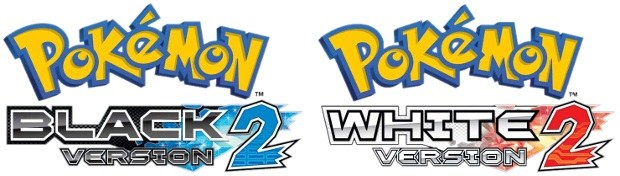 Pokemon Black 2 and White 2 logos