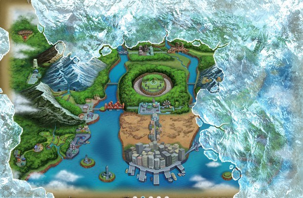 Frozen Unova map