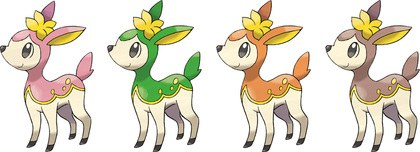 Deerling forms in Spring, Summer, Autumn, Winter