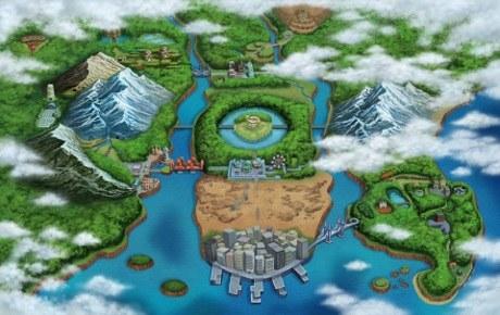 The Unova region in Pokémon Black & White
