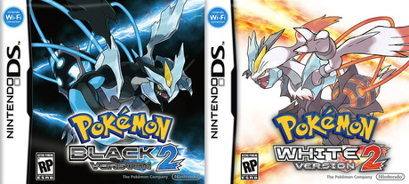 Pokémon Black 2 and White 2 box art