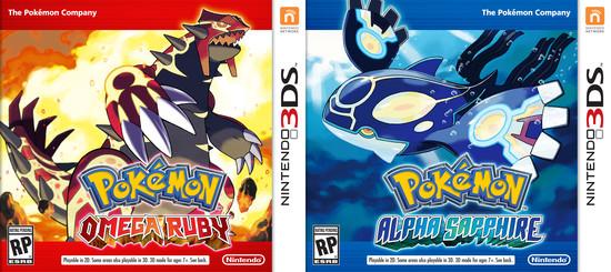 Pokemon Omega Ruby, Alpha Sapphire box art